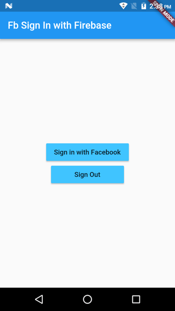 Sign in/out with Facebook…