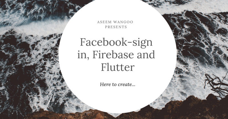 Firebase, facebook sign-in andFlutter