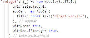 WebView Scaffold