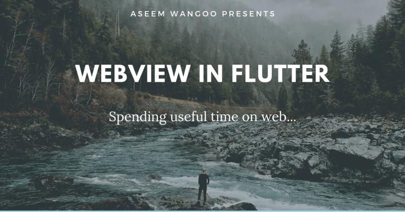 WebView inFlutter