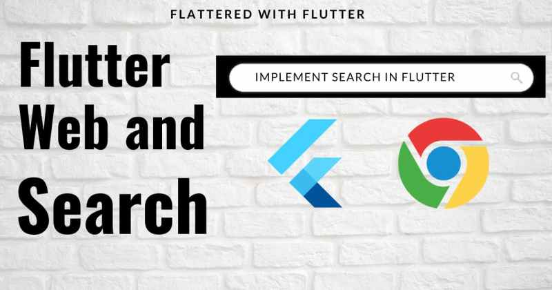 Flutter Web and Search