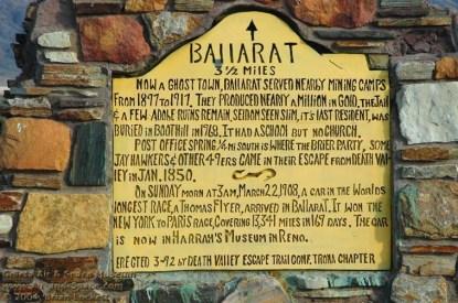 Ballarat Historic Marker