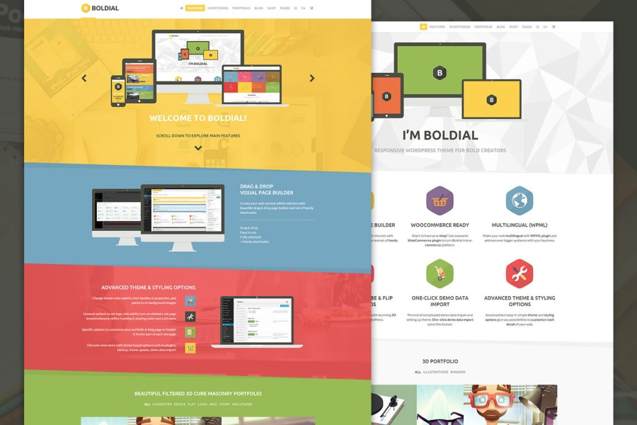 Boldial Wordpress Theme