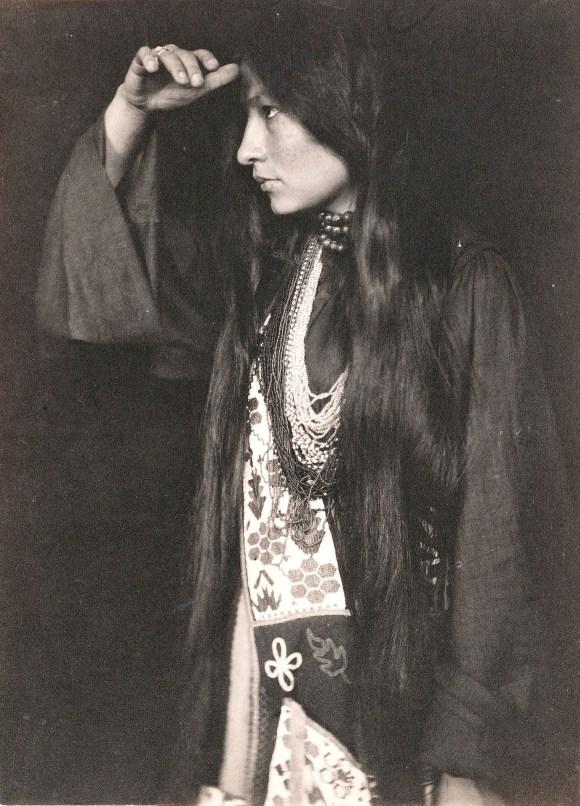 Lakota author and activist Zitkála-Šá pictured in 1898.