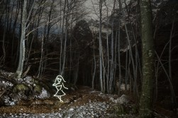 Afraid Of The Dark (All In Camera Light Painting), Logarska Dolina Slovenia