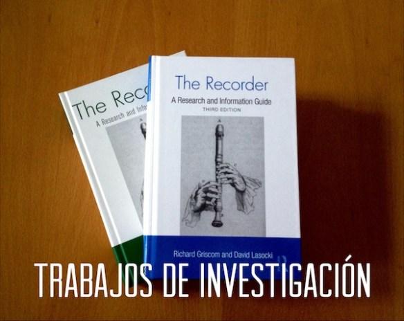 Trabajos de investigación 2012-13