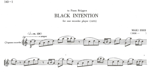 Maki Ishii — Black Intention (fragmento)