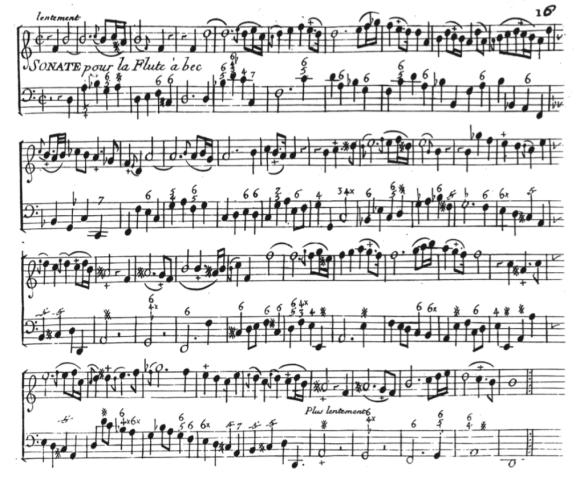 Philidor - Sonate pour la flûte a bec