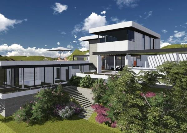 projeto de arquitetura em aço para residência sustentável em louveira, região de campinas, são paulo