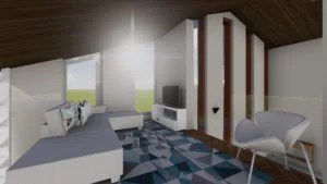 decoração da sala íntima /mezanino