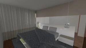 projeto de interiores  da suíte do casal
