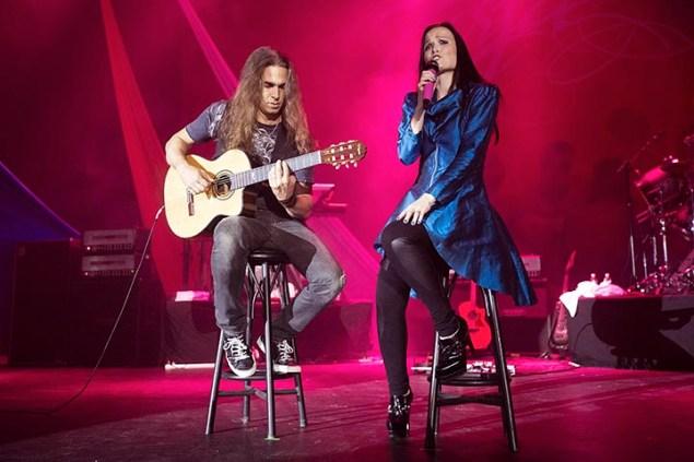SÃO PAULO, 13.09.2014 - TARJA TURUNEN Tarja Turunen Cabuli cantora lírico-dramática, compositora e pianista finlandesa que ficou mundialmente conhecida como vocalista da banda de metal sinfônico Nightwish, entre 1996 e 2005 e atualmente ela segue em carreira solo se apresentou no HSBC Brasil na noite deste sabado na região sul da cidade de Sao Paulo. (Foto: Flavio Hopp/Comando Rock/Top Link)