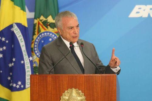 Brasília - Presidente Michel Temer  discursa na cerimônia de apresentação dos oficiais-generais promovidos (Fabio Rodrigues Pozzebom/Agência Brasil)