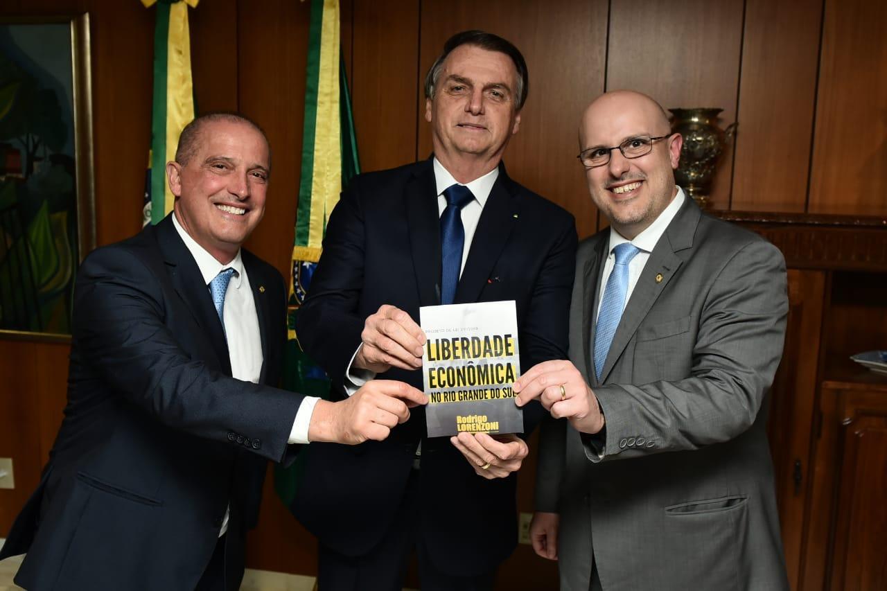 BOLSONARO INCENTIVA PROJETO DE LIBERDADE ECONÔMICA DO DEPUTADO RODRIGO LORENZONI.