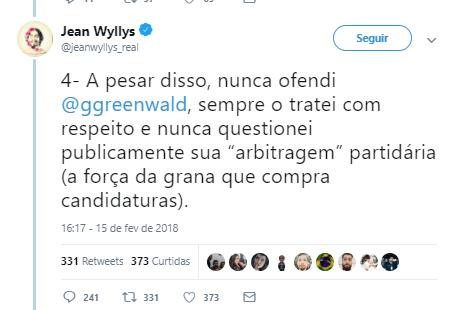 JEAN WYLLYS ADMITE QUE FOI FORÇADO A VENDER SEU MANDATO.