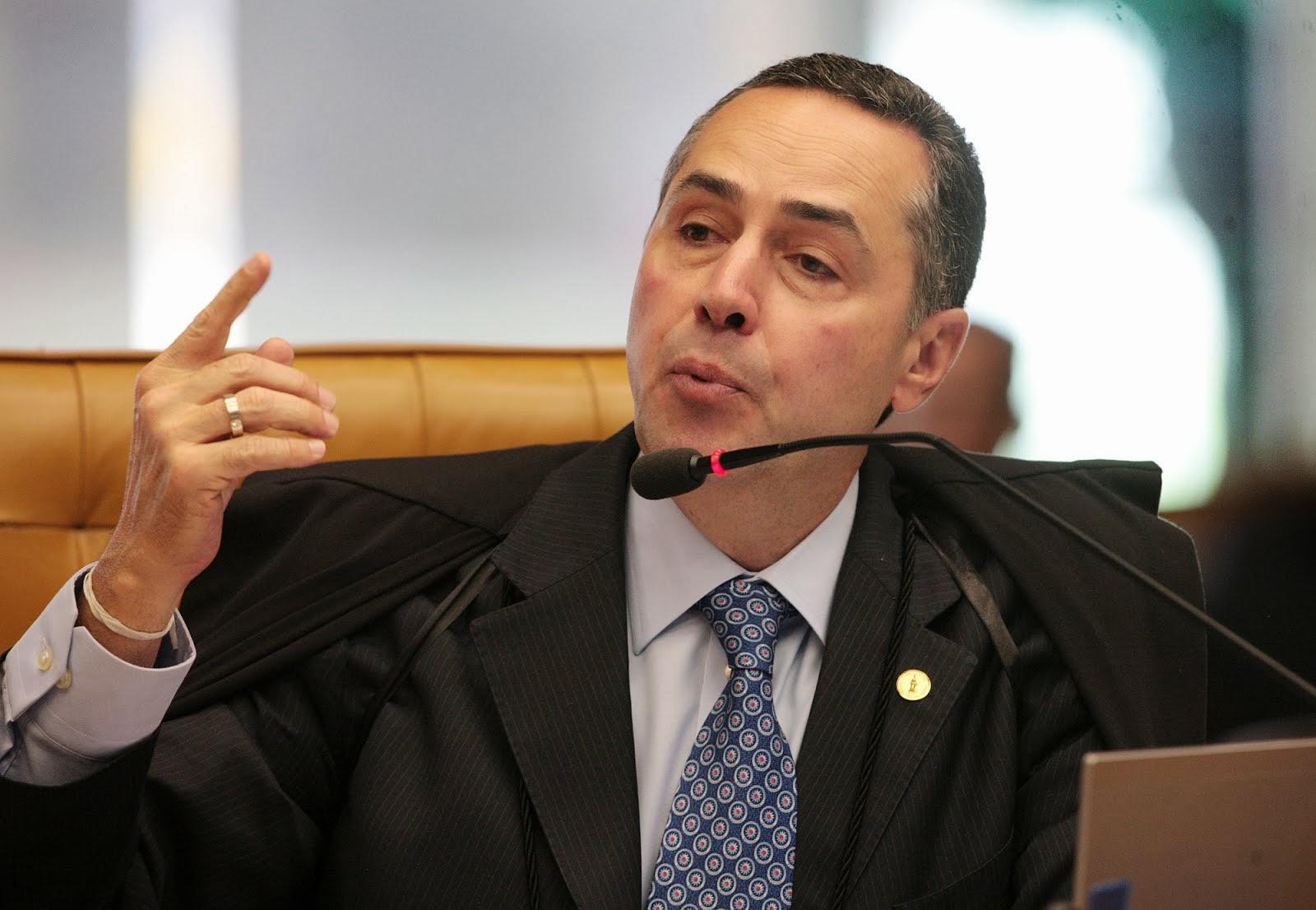 MINISTRO BARROSO DIZ QUE O BRASIL É VISTO NO MUNDO COMO PARAÍSO DOS CORRUPTOS.