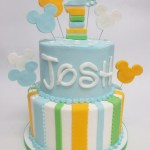 two tier micky mouse cake