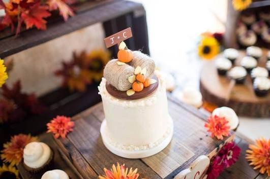 Harvest wedding cake - Jessica Fike Photography