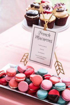 wedding cupcake display and macarons -Erin Michelle Photography
