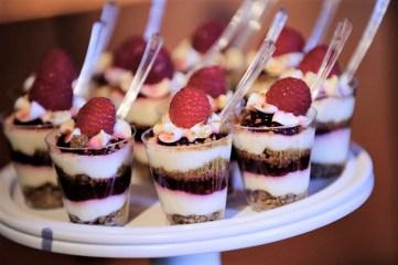 wedding dessert parfaits display - Amy Deputy Photography