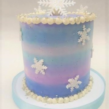 Winter Watercolor Cake
