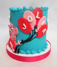 Peppa pig balloon smash cake