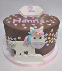 chocolate unicorn birthday cake stars