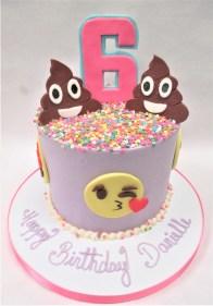 poop emoji funfetti cake