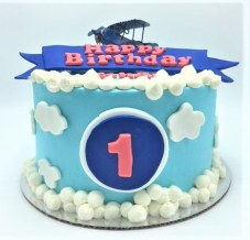 airplane clouds birthday cake