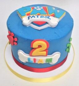 paw patrol bone birthday cake