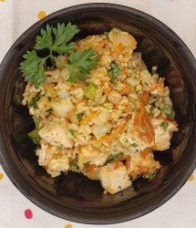 chimichurri chicken rice bowl
