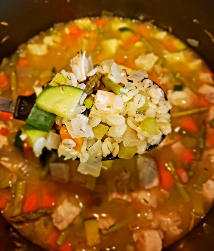 hearty chicken barley soup