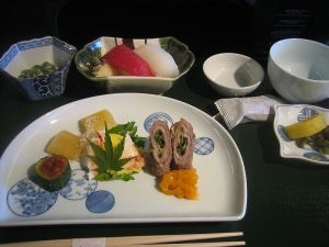 Image of a traditional Japanese Kaiseki meal