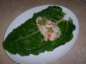 Chard leaves should retain their vibrant color.