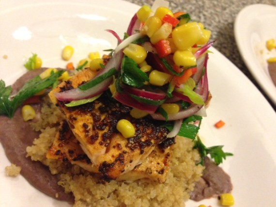 Chile Lime Salmon with Quinoa