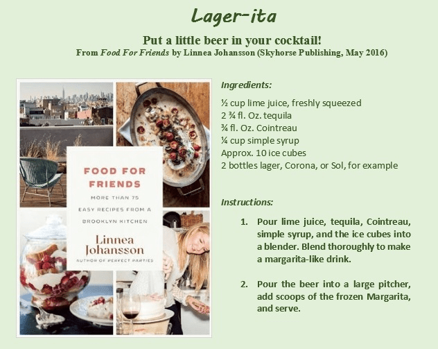 Food For Friends - Lager-ita recipe