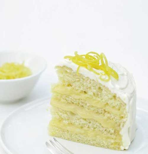 Iced Lemon Curd Layer Cake