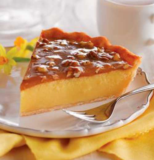 Praline Custard Pie