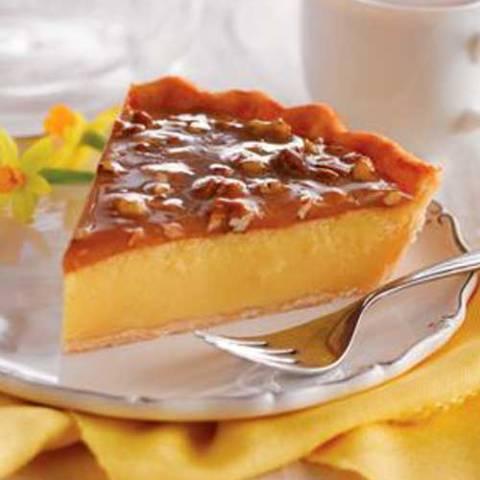 Recipe for Praline Custard Pie