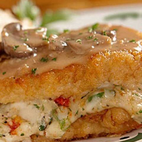 The rich and creamy marsala and mushroom sauce was amazing and complimented the stuffed chicken breast perfectly. Stuffed Chicken Marsala is one of my favorites at the Olive Garden. With this recipe, I can make it anytime I want!