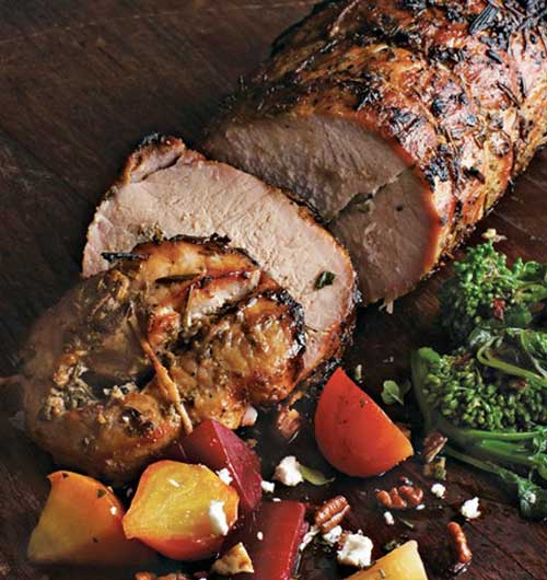 Tuscan Style Roast Pork with Rosemary Sage and Garlic