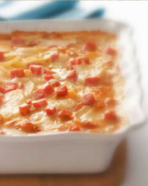 Scalloped Potatoes with Ham and Cheese