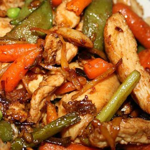 Recipe for Slow Cooker Asian Chicken and Spiced Beans