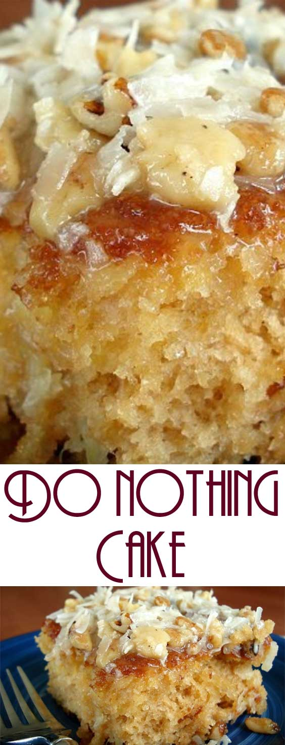 When a friend brought this to a church supper, EVERYONE insisted on getting the recipe. Very moist and delicious.. This really is just about a do nothing cake, unless you count walking across the street to the neighbor's to borrow sugar! #cake #dessert #easyrecipe