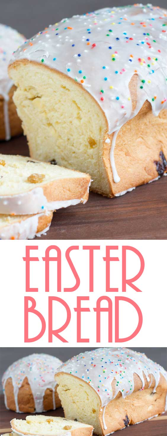 A classical Eastern European sweet bread made of sweet yeast dough and raisins and served for Easter. Maybe this Easter Bread can start a new tradition in our home? #easterrecipe #easterbaking #breadrecipe #easterbread