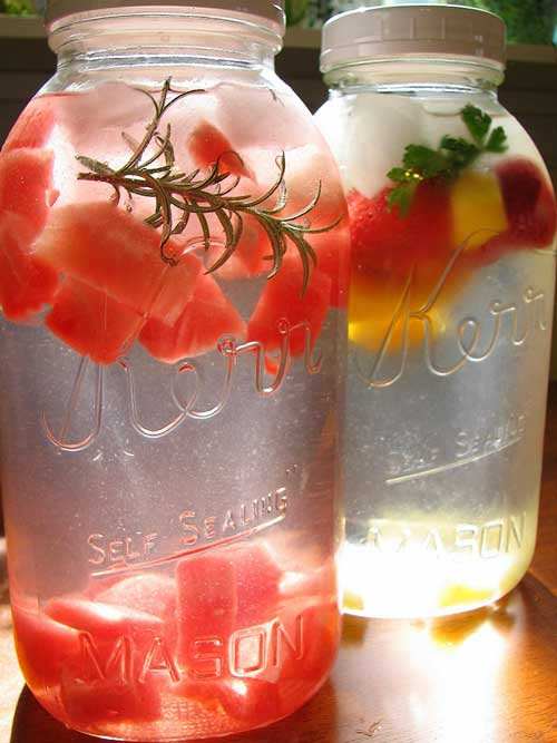 Easy Fruit and Herb Flavored Water