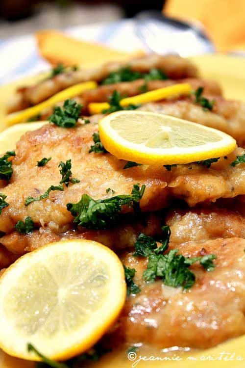 Recipe for Chicken Piccata - I LOVE chicken piccata, but Im often disappointed with recipes I try at home. This one is the exception! Pan-fried chicken breast medallions get a light, fresh lemon-butter sauce with capers and parsley.