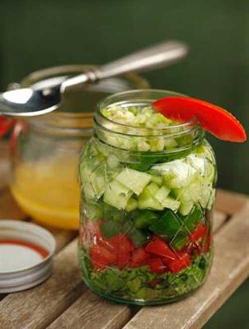Gazpacho Salad in a Jar