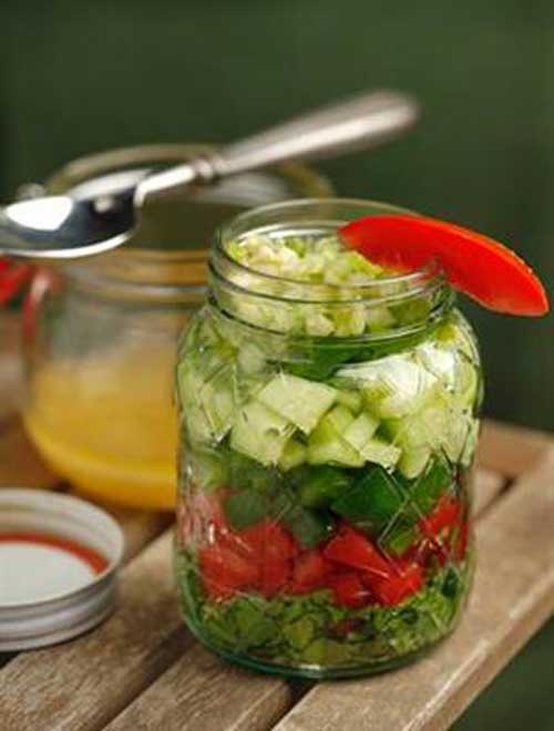 Gazpacho Salad in a Jar