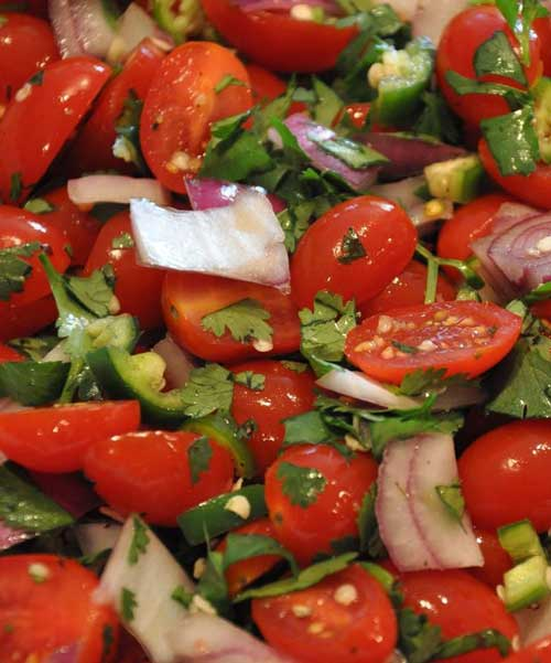 Fresh and Spicy Grape Tomato Salad